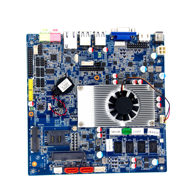 где купить Cheapest indusry motherboard mini-itx motherboard with 1037u processor 2gb ram onboard support HDD onboard дешево