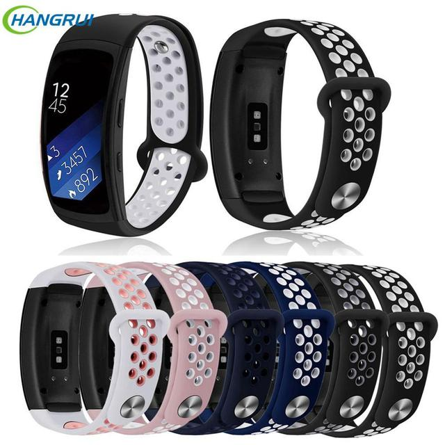HANGRUI Sports Silicone Strap For Samsung Galaxy Gear Fit2 Pro Watch Band wrist bracelet straps for Samsung Gear Fit 2 SM-R360