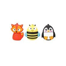 cartoon cute penguin owl fox pen USB flash drive pendrive 4GB 8GB 16GB 32GB 64GB memory stick animal U disk free shipping