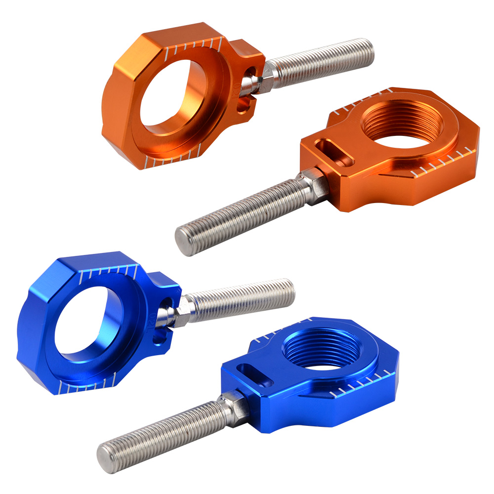 25mm Rear Axle Blocks Chain Adjuster For <font><b>KTM</b></font> SXF SX XCF XC for Husqvarna FC TC FX TX 125 250 <font><b>450</b></font> 350 300 2016 <font><b>2017</b></font> 2018 2019 image