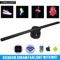 60 см Голограмма рекламный дисплей с Wi-Fi управлением Remote3D светодиодный вентилятор голографическая визуализация невооруженный глаз коммерч...