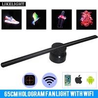 60 см с Wi Fi управлением Remote3D голограмма рекламный светодио дный дисплей светодиодный вентилятор голографическая визуализация невооруженны