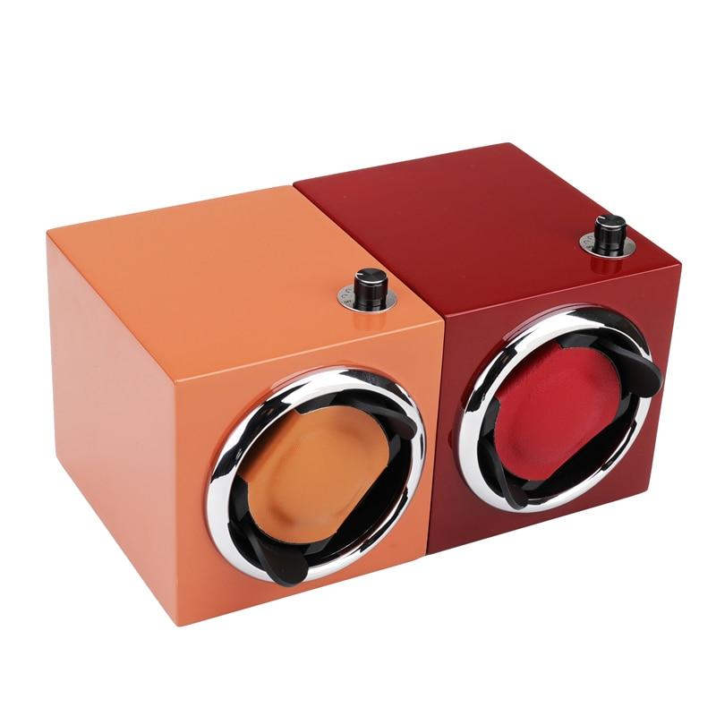Armazenamento De Madeira Rotação Automática 1 + 0 novo estilo (orange)