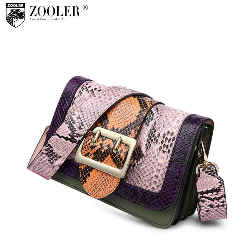 ФОТО free delivery  2017 new brand leather shoulder bag Personality serpentine messenger bag Hit the color mini small package