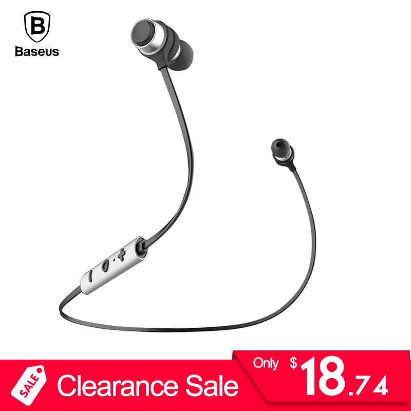 Baseus B16 Wireless Bluetooth Earphone Headphone For iPhone X 8 7 6 6s Plus Samsung Stereo Casque With Microphone Fone De Ouvido baseus little devil case for iphone 7 plus black