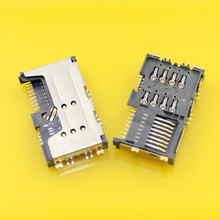 2pcs/lot 3 in 1 Brand New double Booth Card +sim card Holder Slot Tray Reader Slot for Lenovo A60 P700 P700I A789 A65.