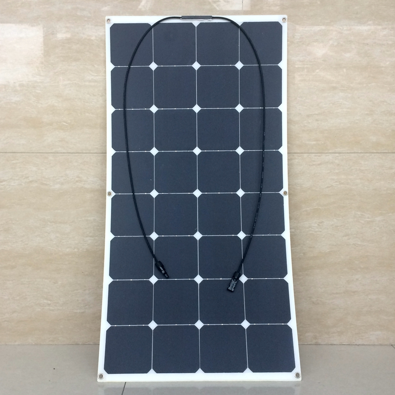Factory Price 18V 100W Soft Flexible Solar Panel For 12V Battery Mono Motorhomes Boats Cars Roof