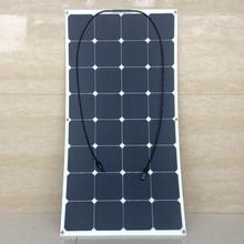 Precio de fábrica 18 V 100 W Flexible Suave Mono Panel Solar Para 12 V Batería Autocaravanas Barcos Coches Techo Sunpower 100 W Cargador Solar