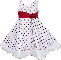 Girls Dress Wine Red Dot Tulle Party Pageant Unique Design Kids Clothing 4 12