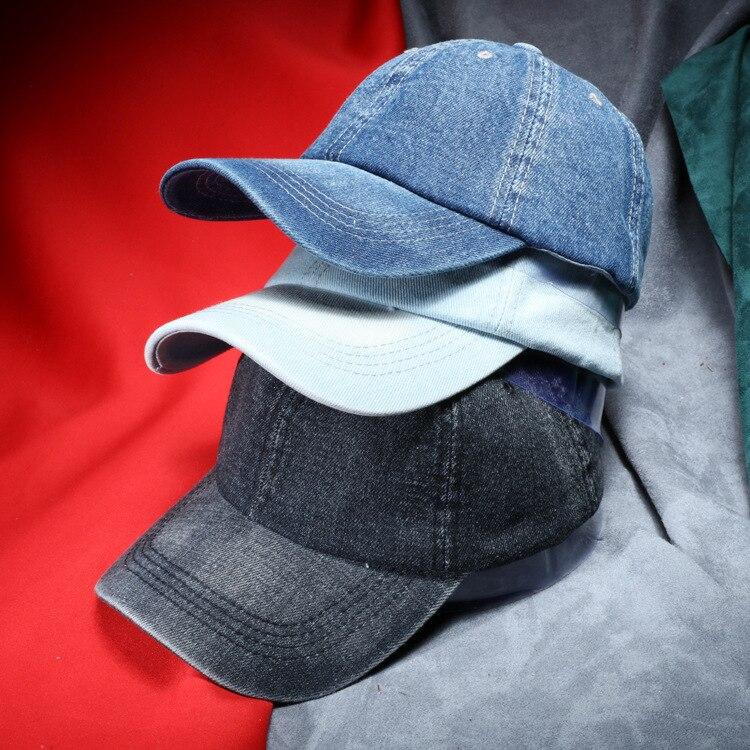 Hats Jeans Baseball-Cap Fall Cowboy Sanpback Sport Unisex Women Denim Casual for And