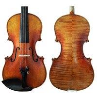 Free Shipping Copy Stradivarius 1689 100% Handmade FPVN03 Oil Varnish Violin + Carbon Fiber Bow Foam Case