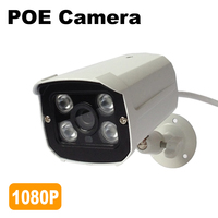 Real POE IP Camera 1080P Outdoor 48V IEEE802 3af At Video Surveillance Camera IP Home Security