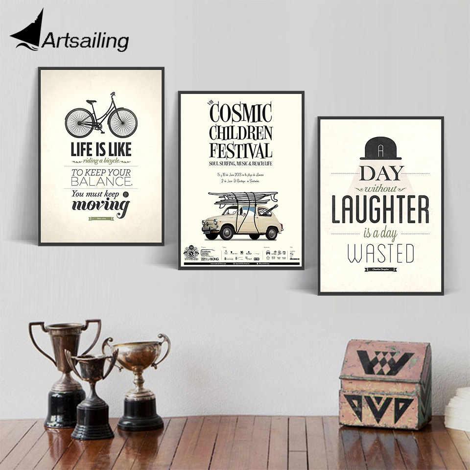 Hd الطباعة الشمال الاسكندنافية غرفة المعيشة جدار الفن طباعة ملصق دراجة سيارة رذاذ ملصق شحن مجاني