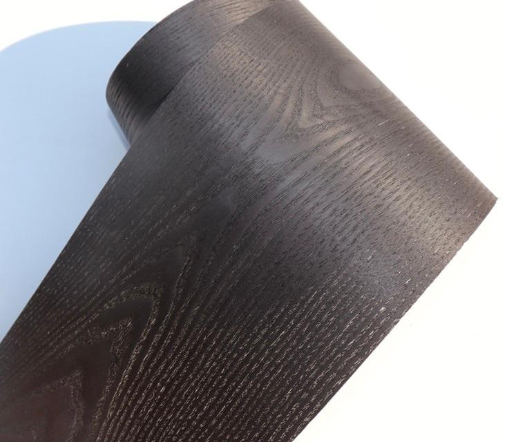 LengthL2.5Meters Width:16cm Thickness:0.25mm Wax-dyed Pattern Natural Black Oak Wood Veneer
