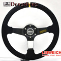 """14 """"350MM Blue Car Steering Wheel yarn mill leather Steering Wheel  Steering Wheel Deep Corn Dish Wholesale and Retailer"""