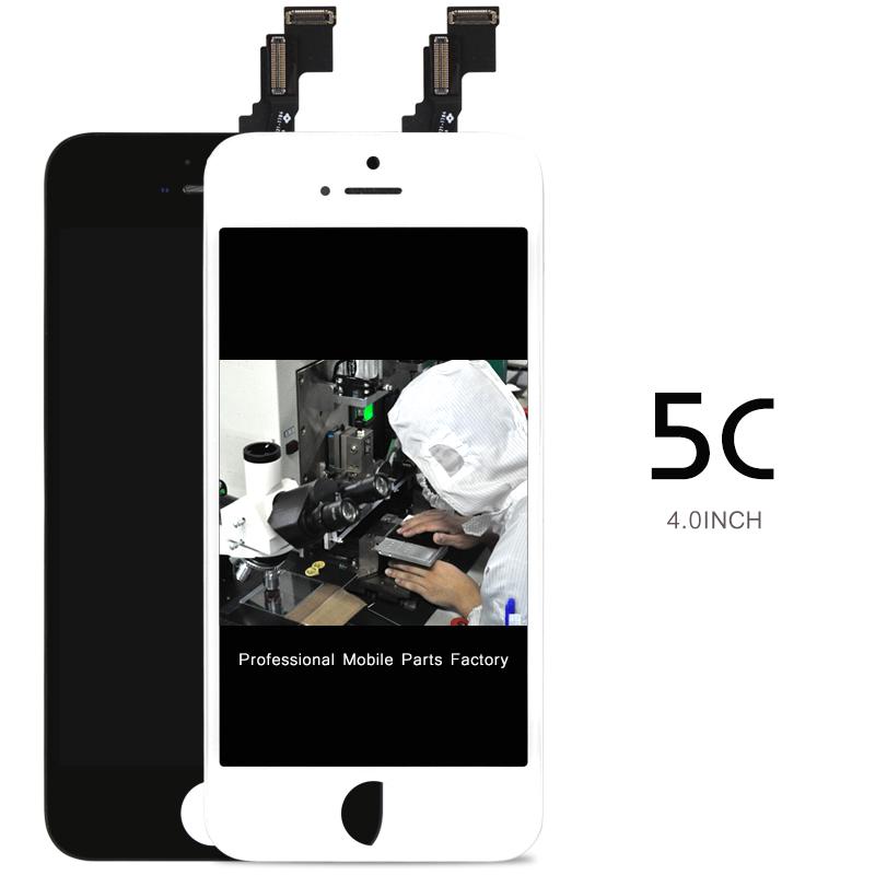 Prix pour 10 pcs AAA Qualité Aucun Pixel Mort Pour l'iphone 5C LCD Avec Écran Tactile Digitizer Assemblée + Caméra Titulaire