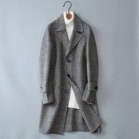 2017 Winter new style Men's fashion thicken trench coat jacket Men's casual windbreaker woolen coats men overcoat