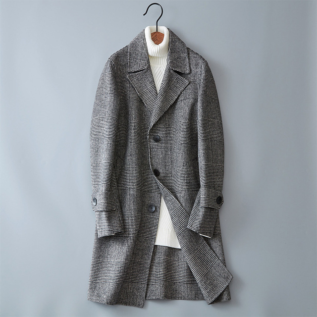 2017 Новинка зимы стиль Мужская мода утолщаются Тренч куртка для мужчин's повседневное ветровка шерстяные пальто для будущих мам