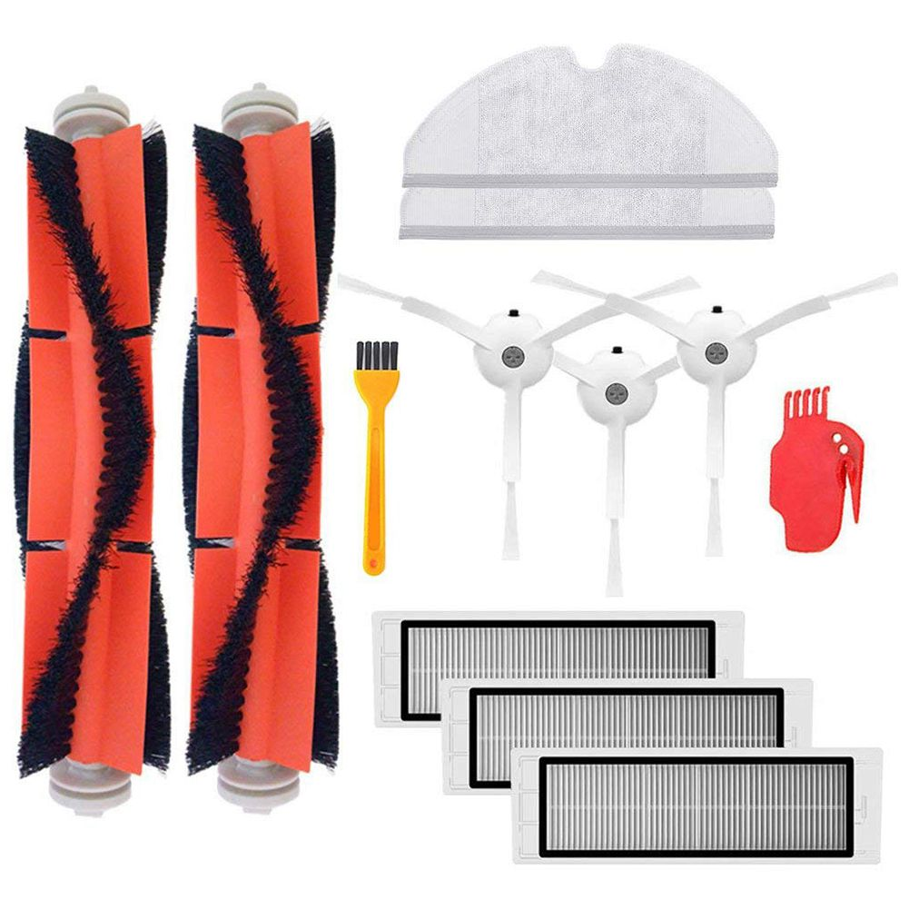 3 pieces side brush 3 pieces HEPA filter 2 pieces main brush 2 pieces Mop cloth 1 piece cleaning tool for Xiaomi XIAOMI MI Mij pieces палантин page 2