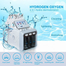 2019 new Multifunctional  Facial Machine  Water Peel Treatment  Face Care Ultrasonic Skin Scrubber Deep Cleaner