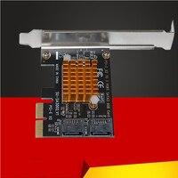 ل SA3002 ASM1062 رقاقة PCI-E إلى SATA 3.0 بطاقة التوسع 6GSATA3. 0 واجهة قرص صلب بطاقة التوسع بطاقة LCD مهايئ لشاشة
