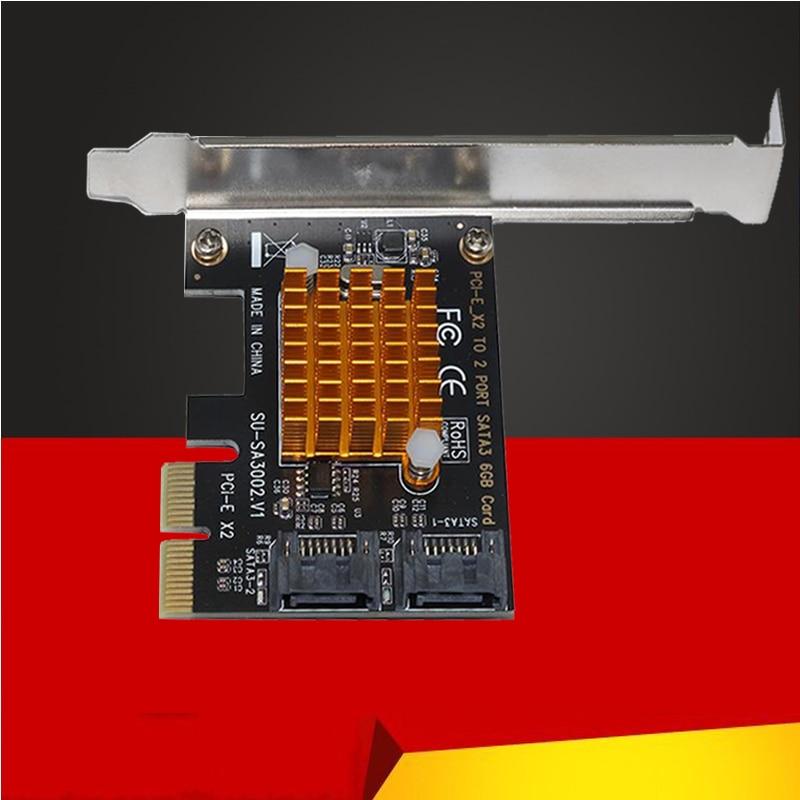 For SA3002 ASM1062 Chip PCI-E To SATA 3.0 Expansion Card 6GSATA3.0 Interface Hard Disk Expansion Card Interface Adapter Card