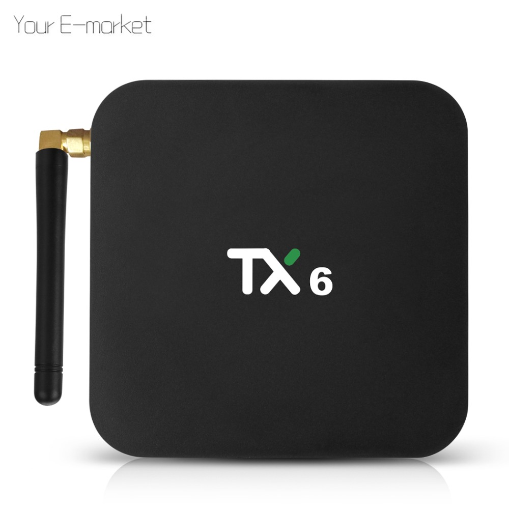Tanix TX6 Android 9.0 TV Box Smart TV IPTV décodeur 4G 32G Allwinner H6 1080 P H.265 4 K double WiFi Bluetooth 5.0 lecteur multimédia