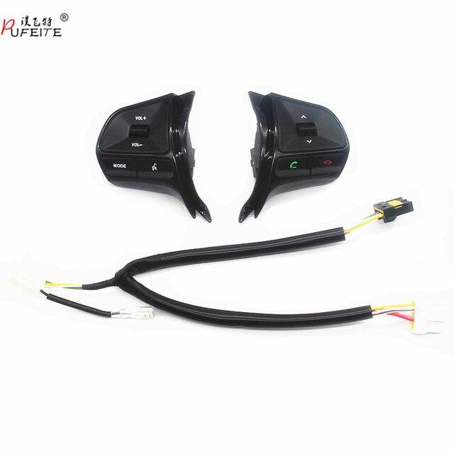 Für KIA RIO 2011 2014 multifunktionale lenkrad control taste Audio telefon lautstärke schalter für bluetooth auto zubehör