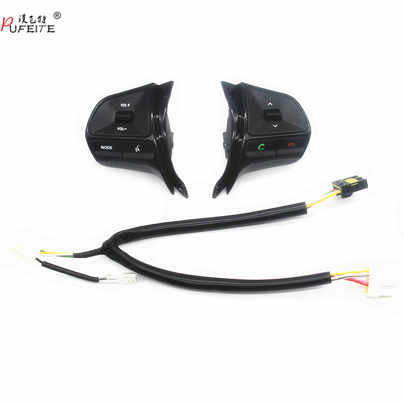 Pour KIA RIO 2011-2014 multifonctionnel cache de volant bouton de contrôle Audio téléphone volume interrupteur pour bluetooth accessoires de voiture