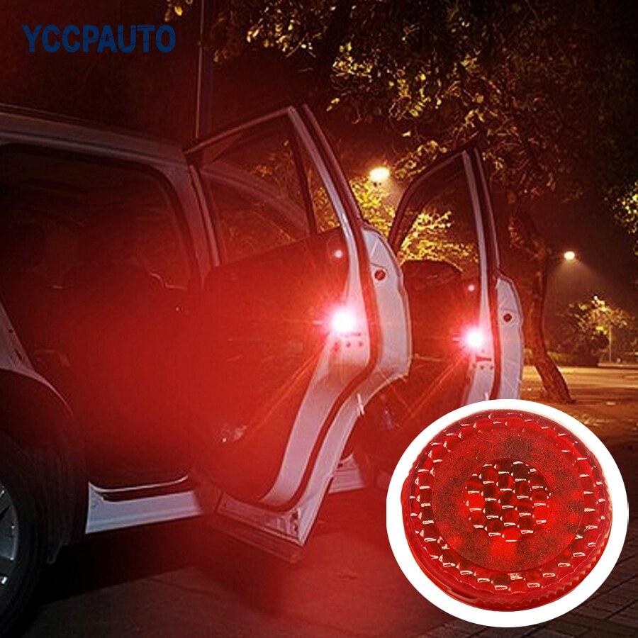 Car Truck LED Side Door Step Warning Light Anti Collision Strobe Lamp Wireless Kit Flashing Lamp Auto Accessories 2PCS