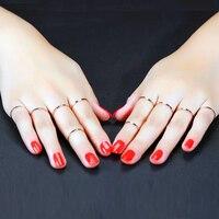 (10ชิ้น/ล็อต) 1มิลลิเมตรของผู้หญิงธรรมดาแหวนแต่งงานที่เรียบง่ายขนาด