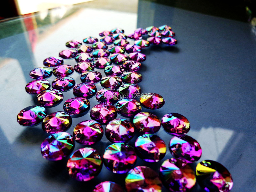 Round 10mm 300pcs Sew on Loose Beads Crystals Purple AB colour Rhinestones  Accessories For Hand Sewing Strass Diamond m44-in Rhinestones from Home    Garden ... 49ef7f445bb3
