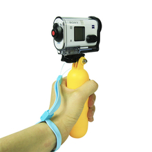 Sports Camera Floaty Floating Hand Grip Handle Mount Accessory + Strap For Sony Action Cam HDR AS20 AS15 AS100V AS30V AZ1 headband mount blt hb1 for sony actioncam hdr as200v as100v as20 as30v as15