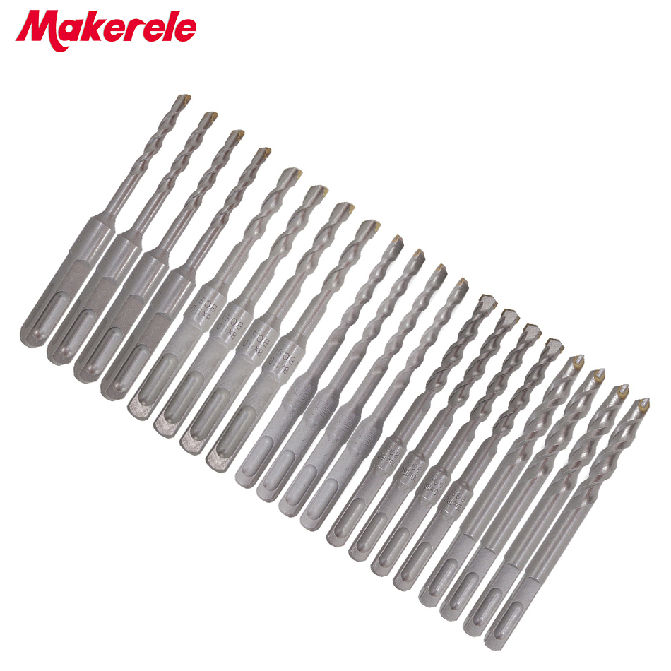цена на High Quality 20Pcs/Set bits Twist Drill Bit For Metal 40CR chrome-vanadium steel Drilling Woodworking Tool 6/8/10/12mm