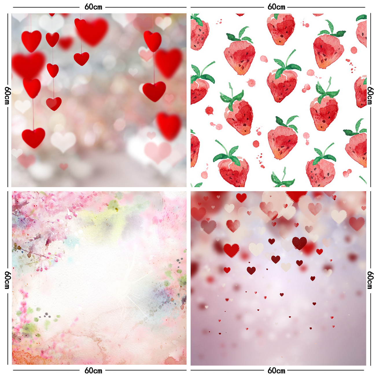 Strawberry background photography backdrops valentines backdrop photo studio props newborn props Stakes background ZH 19