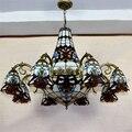 Барочная люстра Tiffany  европейская винтажная подвесная стеклянная лампа  Подвесная лампа для отелей