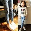 Новый, мода стиль весна Девушки джинсы детская одежда, дети джинсы дети, мода джинсы 3-11 бесплатная доставка