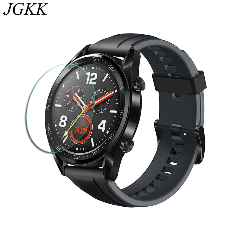 JGKK 2PCS Tempered Glass For Huawei Watch 1 Watch 2 Pro 2018 GT 2 5D Ultra thin Screen Protector For Huawei GT Protective Film in Phone Screen Protectors from Cellphones Telecommunications