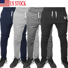 Simple Stylish Men Autumn Casual Sport Gym Slim Fit Trousers