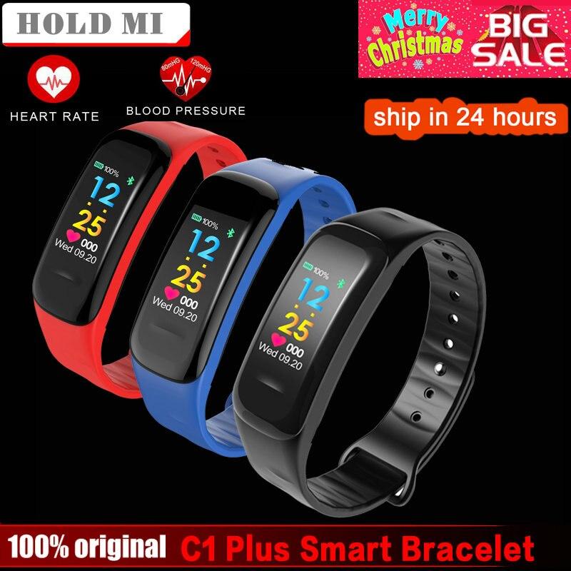 C1 Plus pantalla a Color pulsera inteligente presión CK18 banda inteligente Monitor de ritmo cardíaco rastreador de ejercicios del deporte de la pulsera
