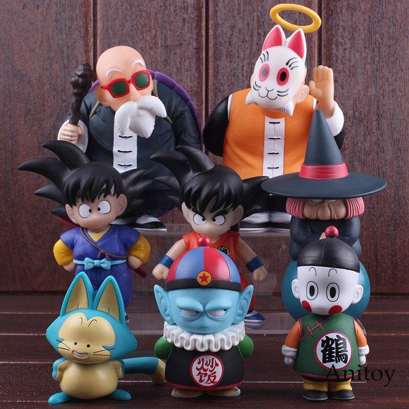 Dragon Ball Figure Set Son Goku Gohan Chiaotzu Puar Pilaf Uranai Baba Master Roshi Figure PVC Collectible Model Toy 4pcs/set 1