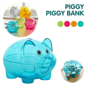 Saving-Box Banks Plastic Coin-Storage Cash Mini Pig Kid Placement Gift Openable Pig-Style