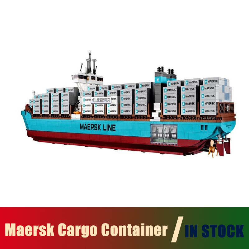Compatible Lego Technic creator 10241 Models Building Toy The Maersk Cargo Container Ship 22002 Building Blocks Toys & Hobbies lepin 22002 1518pcs the maersk cargo container ship set educational building blocks bricks model toys compatible legoed 10241