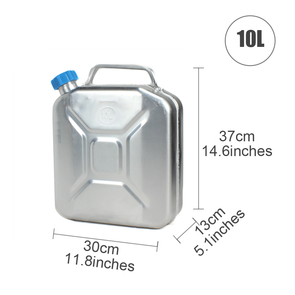 TopAuto 20L Oil Thick Aluminum Fuel Tank Gasoline Diesel Can Water Tank Storage Cell Auto Motorcycle Truck Car Accessories