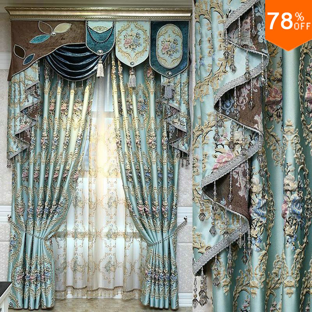 christmas decorations for home christmas 3D Curtains Flower embroidery curtain beads Curtains bedroom curtain wedding decoration