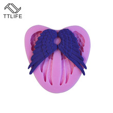 TTLIFE Angel Wings Silicone Molds Fondant Cake Sugarcraft Decorating Tools Cupcake Chocolate Candy Gumpaste Dessert Baking Mould ttlife 3d easter bunny silicone mold rabbit with carrot cupcake fondant cake decorating diy tool candy chocolate gumpaste mould