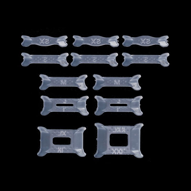 12 Pcs Ring Size Adjuster Adjuster Set Plastic Spring Ring Transparent Reducer Jewelry Accessories Accessory Ring Loose Resizing