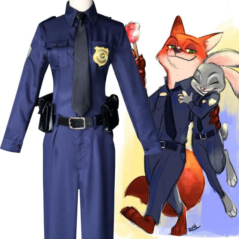 2017 New Anime Zootopia cosplay rabbit Judy police Costume ...