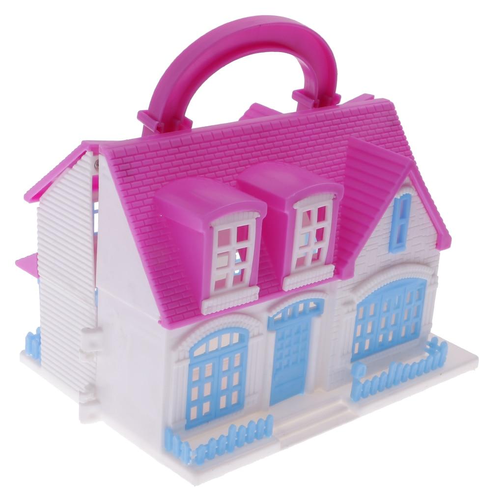 Random Real life Doll House Dolls AccessoriesPlastic Villa House ...
