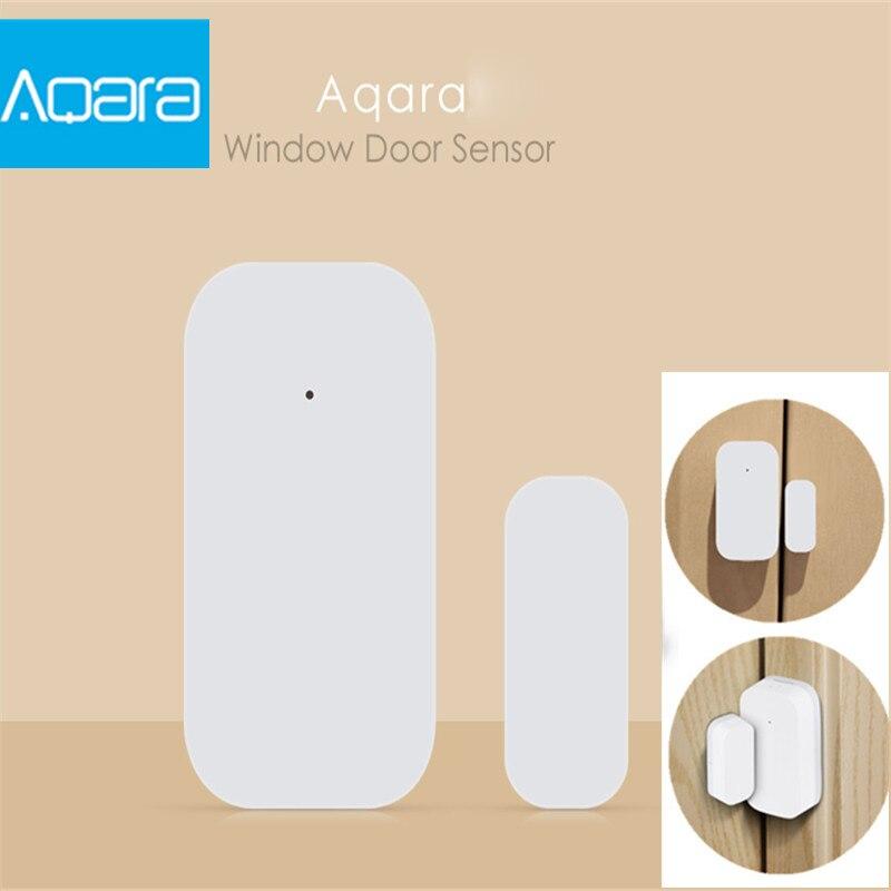 купить Xiaomi Aqara Door Window Sensor Zigbee Wireless Connection Smart Mini Door Sensor in Android IOS App Control Home Security онлайн